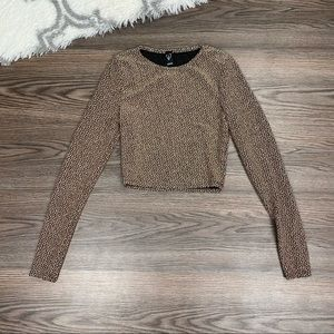 NWT Windsor Glitter Crop Top Size Large